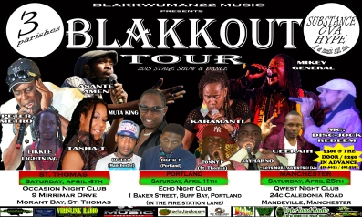 ONE POSTER - BLAKKOUT TOUR