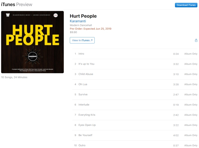 Hurt People iTunes Preorder